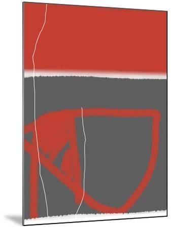 Abstract Red-NaxArt-Mounted Art Print