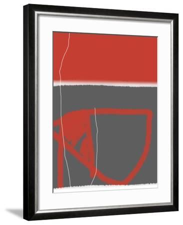 Abstract Red-NaxArt-Framed Art Print
