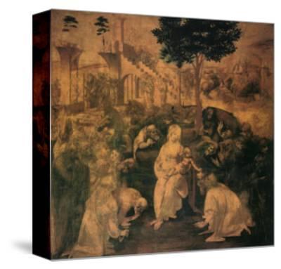 Adoration of the Magi, 1481-Leonardo da Vinci-Stretched Canvas Print