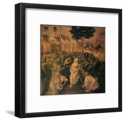 Adoration of the Magi, 1481-Leonardo da Vinci-Framed Giclee Print