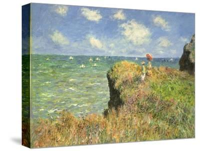 Cliff Walk at Pourville, 1882-Claude Monet-Stretched Canvas Print