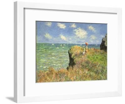 Cliff Walk at Pourville, 1882-Claude Monet-Framed Premium Giclee Print