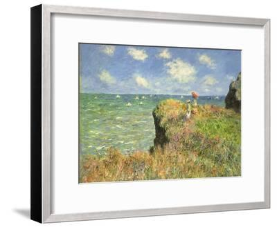 Cliff Walk at Pourville, 1882-Claude Monet-Framed Giclee Print