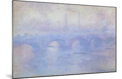 Waterloo Bridge: Effect of Mist, 1903-Claude Monet-Mounted Giclee Print