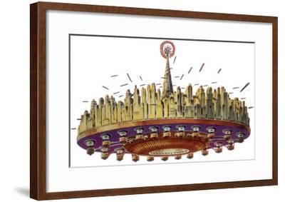 Sci Fi - Futuristic Space City, 1929 Giclee Print by Frank R  Paul | Art com