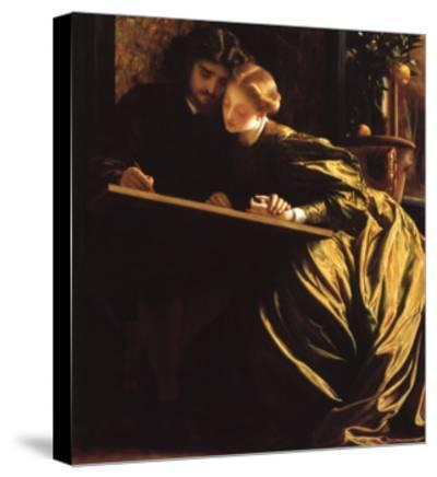 Painter and His Bride, 1864-Frederick Leighton-Stretched Canvas Print