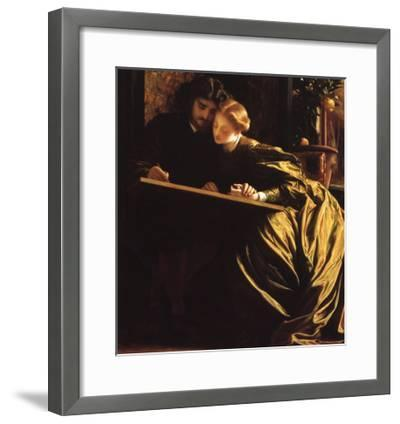 Painter and His Bride, 1864-Frederick Leighton-Framed Giclee Print