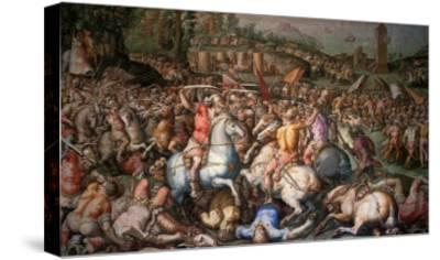 Assault on Pisa, 1565-Giorgio Vasari-Stretched Canvas Print