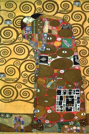 Fulfillment, One of the Kiss Panels, 1909-Gustav Klimt-Stretched Canvas Print