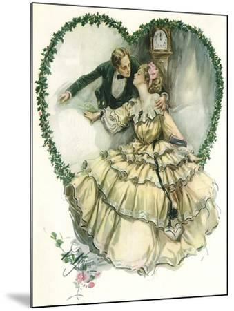 Couple in Heart-Harrison Fisher-Mounted Giclee Print