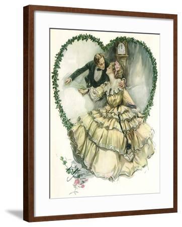 Couple in Heart-Harrison Fisher-Framed Giclee Print