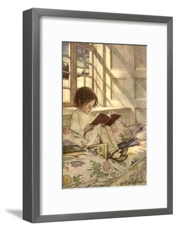 Chlld Reading on Couch, 1905-Jessie Willcox-Smith-Framed Giclee Print