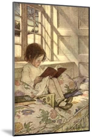 Chlld Reading on Couch, 1905-Jessie Willcox-Smith-Mounted Giclee Print