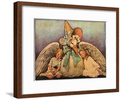 Mother Goose, 1914-Jessie Willcox-Smith-Framed Giclee Print