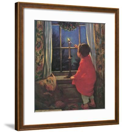 Child Lighting Candle-Jessie Willcox-Smith-Framed Giclee Print