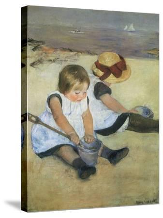 Children on the Beach, 1884-Mary Cassatt-Stretched Canvas Print