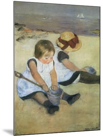 Children on the Beach, 1884-Mary Cassatt-Mounted Giclee Print
