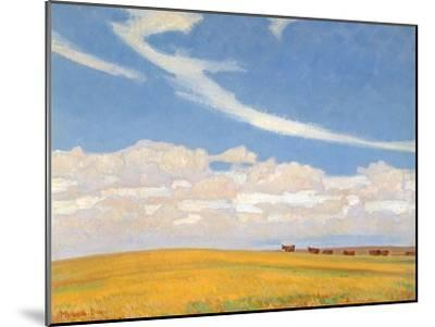 Prairie after Storm, 1921-Maynard Dixon-Mounted Giclee Print