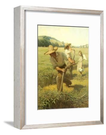 The Scythers, 1908-Newell Convers Wyeth-Framed Giclee Print