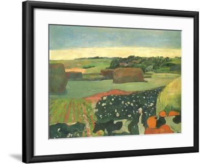 Haystacks in Brittany, 1890-Paul Gauguin-Framed Giclee Print