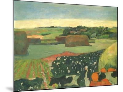 Haystacks in Brittany, 1890-Paul Gauguin-Mounted Giclee Print