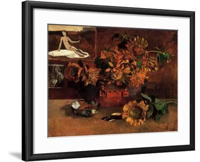Still Life with Sunflowers, 1901-Paul Gauguin-Framed Giclee Print