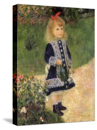 A Girl with a Watering Can, 1876-Pierre-Auguste Renoir-Stretched Canvas Print
