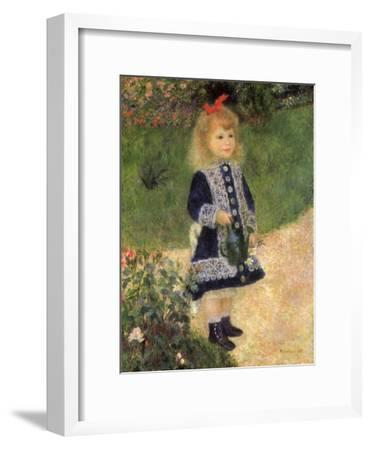 A Girl with a Watering Can, 1876-Pierre-Auguste Renoir-Framed Premium Giclee Print