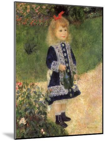A Girl with a Watering Can, 1876-Pierre-Auguste Renoir-Mounted Premium Giclee Print