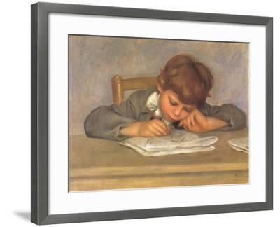 The Artist's Son Jean Drawing, 1901-Pierre-Auguste Renoir-Framed Giclee Print
