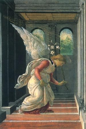 The Annunciation, 1480-Sandro Botticelli-Stretched Canvas Print
