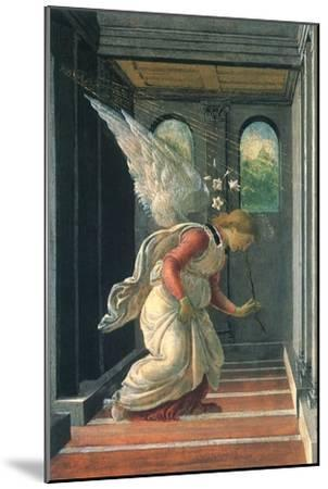 The Annunciation, 1480-Sandro Botticelli-Mounted Giclee Print