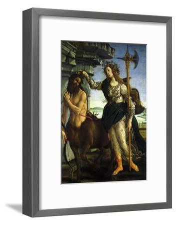 Athena and Centaur, 1482-Sandro Botticelli-Framed Giclee Print