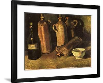 Still Life with Four Stone Bottles, 1884-Vincent van Gogh-Framed Giclee Print