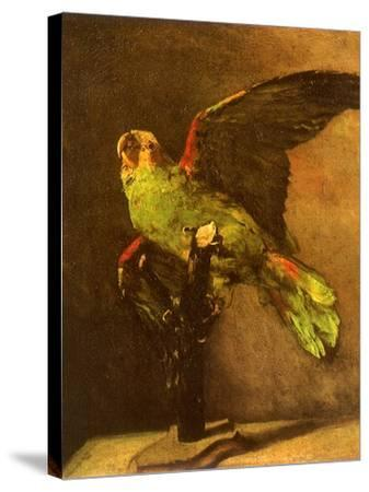 Green Parrot on Perch, 1886-Vincent van Gogh-Stretched Canvas Print