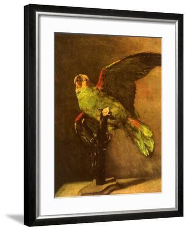 Green Parrot on Perch, 1886-Vincent van Gogh-Framed Giclee Print