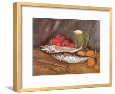 Still Life with Mackerel, 1886-Vincent van Gogh-Framed Giclee Print