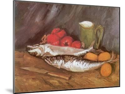 Still Life with Mackerel, 1886-Vincent van Gogh-Mounted Giclee Print