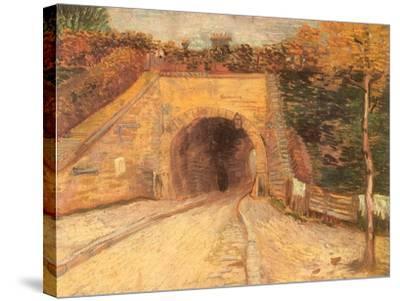 Walking Thru Viaduct, 1887-Vincent van Gogh-Stretched Canvas Print