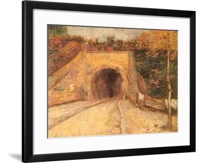 Walking Thru Viaduct, 1887-Vincent van Gogh-Framed Giclee Print