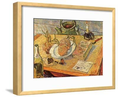 Still Life with Onions and Drawing Table, 1889-Vincent van Gogh-Framed Giclee Print