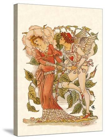 Elf and Queen of Garden, 1889-Walter Crane-Stretched Canvas Print