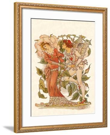 Elf and Queen of Garden, 1889-Walter Crane-Framed Giclee Print