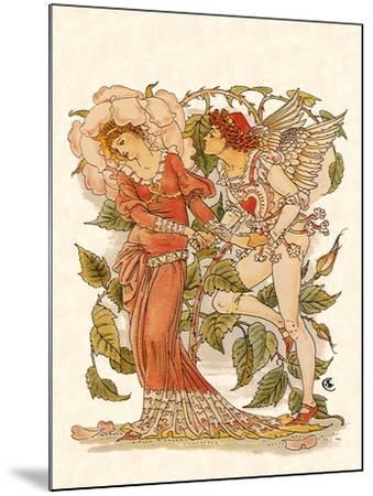 Elf and Queen of Garden, 1889-Walter Crane-Mounted Giclee Print