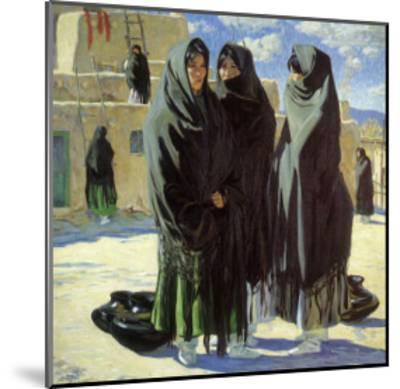 Taos Girls, 1916-Walter Ufer-Mounted Giclee Print