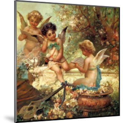 Angel Trio, 1859--Mounted Giclee Print