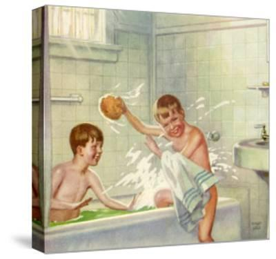 Boys Bathing, 1935--Stretched Canvas Print
