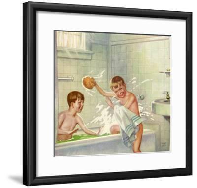Boys Bathing, 1935--Framed Giclee Print
