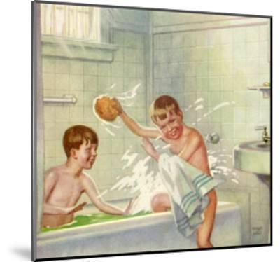 Boys Bathing, 1935--Mounted Giclee Print