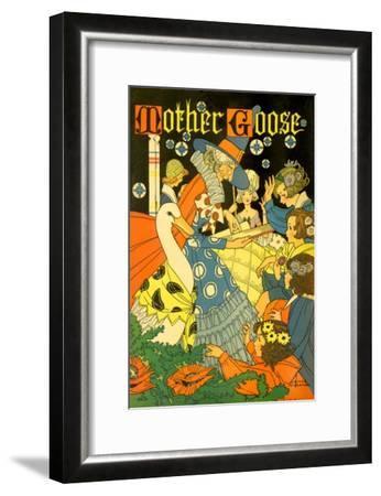 Mother Goose Reads--Framed Giclee Print